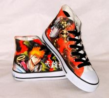 Hand painted Ichigo shoes by augurlee