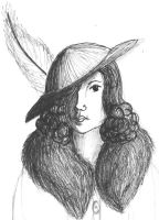 feathered hat by tequilla56