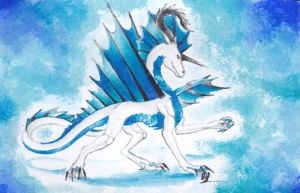 ACEO Caeruleus by Windspirit-Aquaeris