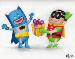 A Present for Batman by glenkamo