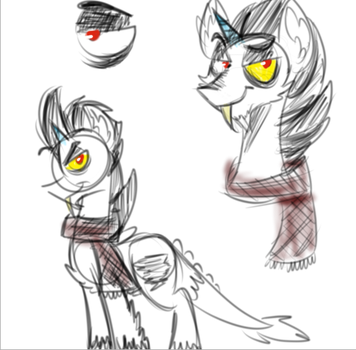 Discord pony sketch by CandyEater9115