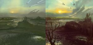 2014.01.20 Spit Marshlands4 both by M0nkeyBread