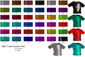 MMD- Male T-shirt Textures by MMDFakewings18