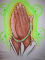 Praying hands by D-realist
