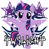 Twilight Sparkle spray by ThaddeusC