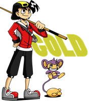 Gold and Ataro- Cartoon style by s0s2