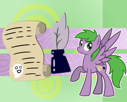 Wallpaper with Spike by Milchik