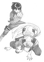 rock lee and gaara by tama-chan220