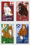Nekotalia stamps - Britannic cats by The-Manticore