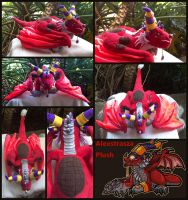 Alexstrasza Plush FOR SALE! by Key-Feathers