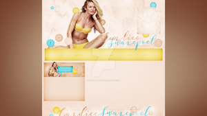 Premade for blog.cz (Candice Swanepoel) by dailysmiley