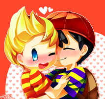 Ness and Lucas by Creamsouffle