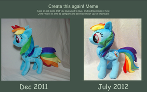 Rainbow Dash - Then and Now by PlanetPlush