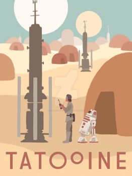 Tatooine - Travel Poster by TwodeeWeaver