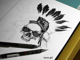 Indian Skull by TeSzu