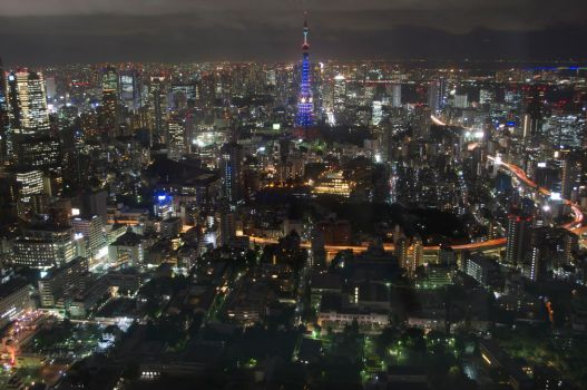 Tokyo tower from Roppongi hills, Japan tokyo by orphoe
