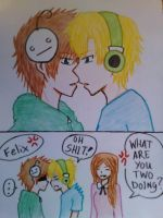 kiss me? part 2 (pewdiecry) by florano