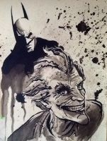 Batman and Joker by MoonProphecy