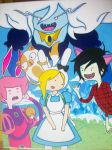 Fionna and Cake in Wonderland by anime-lover05