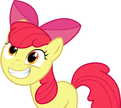 Grinning Applebloom by The-Crusius