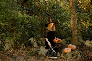 Witch and Pumpkins by AlexisPhotoart