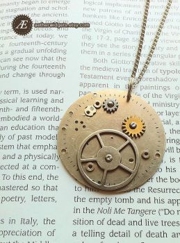 Geared Steampunk Medallion by AetherWidgets