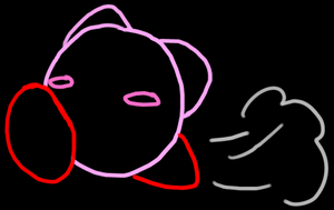 Neon Kirby by Zjenka