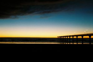 The New Brighton Peir at6.30am by Elvis3000