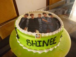SHINee's cake :D by marilau1234