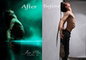 Crucifixion-antes y despues by Marazul45