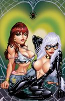 Black Cat and Mary Jane by JWadeWebb