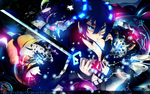 Black ROCK shooter wall by motoko-09