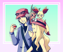 PKMN XY trainers by Ashikai