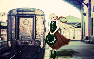 A girl on the station by RiStarr