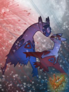 Latias and Latios by PokeHeart