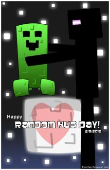 Random Hug Day - Minecraft Edition by ElderKain