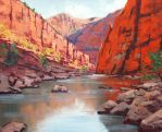 Canyon River by artsaus