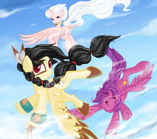 Flying with Friends by Quila-Quila