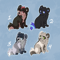 Adoptables Set 1 [CLOSED] by Anttu-chan
