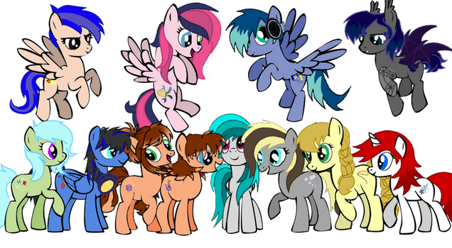 My OCs Group Picture by sharpster25