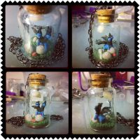 Zweilous in a bottle necklace by Faye-Fox