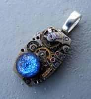 Mechanical BLUE MOON Pendant by Create-A-Pendant