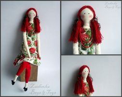 Strawberry Art Doll - Caroline by Zashevka
