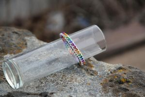 White Rainbow Bracelet by ofmyhats