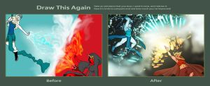 Draw This Again contest entry- Fire and Ice by Malusdraco