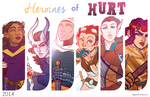 Heroines of Hurt: EVERYBODY by regeener