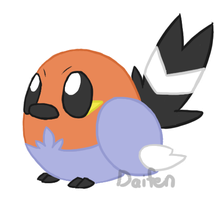 PKMN - Fat Fletchling by Daifen