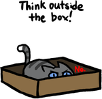 Cats love boxes by SplashKittyArtist