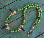Green Forest Coyote Spirit - Coyote Totem Necklace by MorRokko