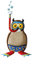 Ben the owl goes Snorkeling by Teh-Scotty